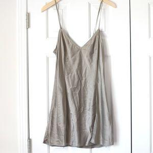 Victoria's Secret tan beige silk gown chemise